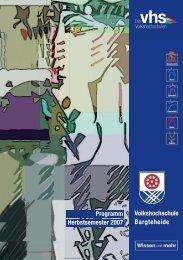 Volkshochschule Bargteheide Programm ... - VHS Bargteheide
