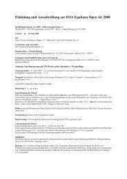 Einladung und Ausschreibung zur EOA Equitana Open Air 2008 - IPZV