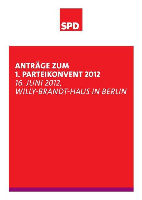einem Antrag - SPD