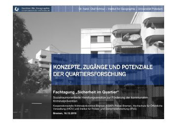 Quartier - Kooperationsstelle Kriminalprävention Bremen