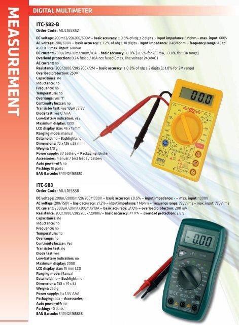 digital multimeter measurement - ITC