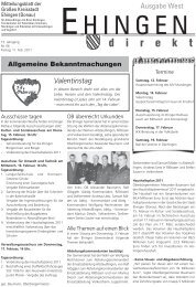 Valentinstag - Stadt Ehingen