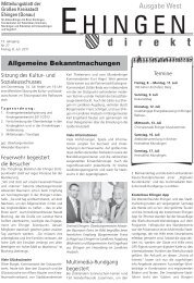 Lebensweisheiten - Stadt Ehingen