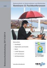 Datenschutz-Seminarkatalog - IBS Schreiber GmbH
