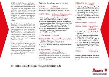 10. Hannoversches Notfallsymposium - Forum Leitende Notärzte ...