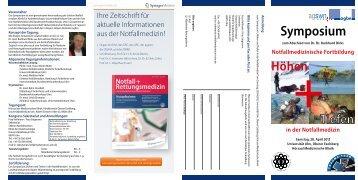 Höhen und Tiefen der Notfallmedizin - cme-agbn