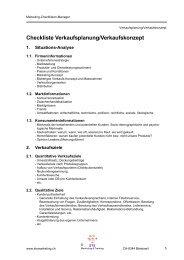 Checkliste Verkaufsplanung/Verkaufskonzept - STS Marketing ...