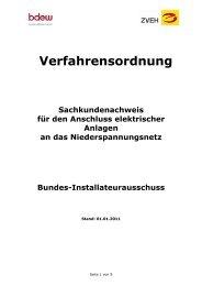 Verfahrensordnung TREI als PDF - Elektro-Innung Regensburg