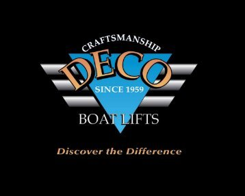 Deco Boat Lifts Brochure - Florida Shoreline & Foundation Experts