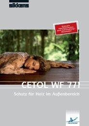Schutz für Holz im Außenbereich CETOL WF 771 - Sikkens Joinery