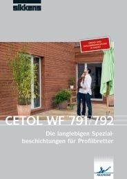 beschichtungen für Profilbretter CETOL WF 791/792 - Sikkens Joinery