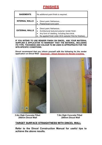 Download – Paint/Render Wall Finishes - Dincel Construction System