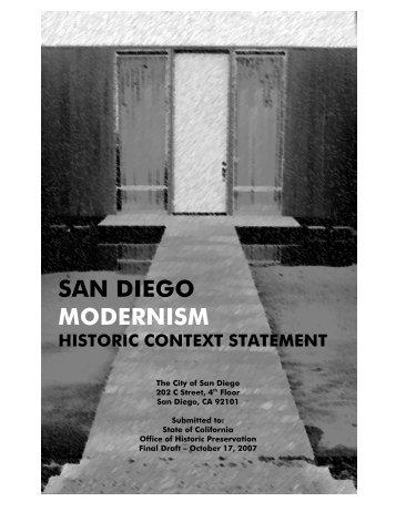 san diego modernism historic context statement - California State ...