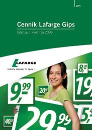 Cennik Lafarge Gips - Chemia budowlana