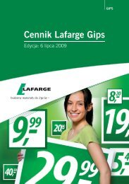 cennik - lipiec 2009 - Lafarge