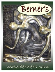 092808 catalog - Berner's Auction Gallery