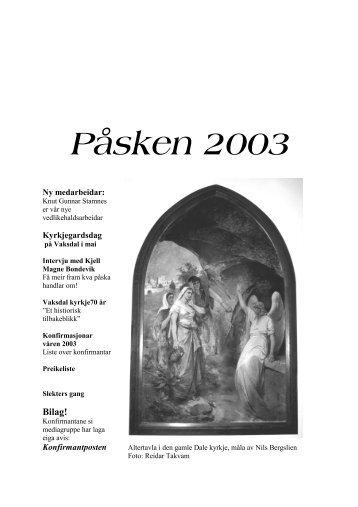 påske - Vaksdal kyrkjelege fellesråd - Den norske kyrkja