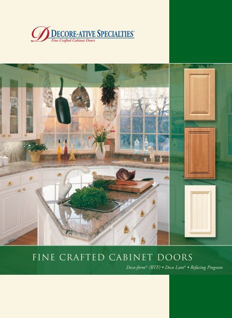 Fine Crafted Cabinet Doors Decore Ative Specialties