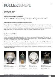 Post-sale press release Geneva, 25 May 2010 ... - Koller Auktionen