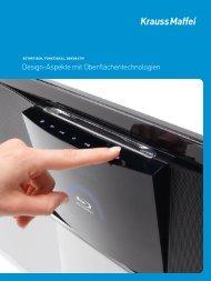Design-Aspekte mit Oberflächentechnologien - Krauss Maffei