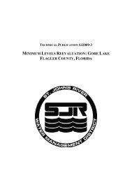gore lake flagler county, florida - St. Johns River Water Management ...