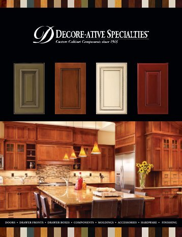 Doors • Drawer FroNTs • Drawer Boxes • CoMPoNeNTs • MolDiNgs ...