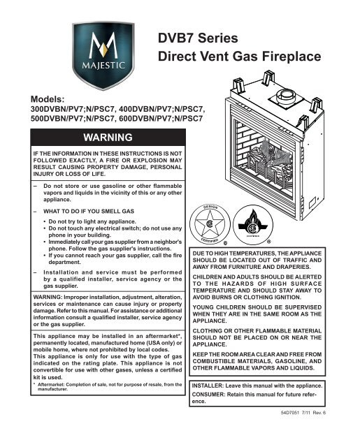 Direct Vent Ventless Fireplace Push Button Piezo Single Lead Ignitor Snap In