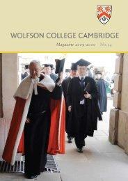 Magazine 2009-2010 - Wolfson College - University of Cambridge