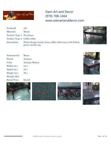 Siam Art and Decor (970) 708-1464 www.siamartanddecor.com