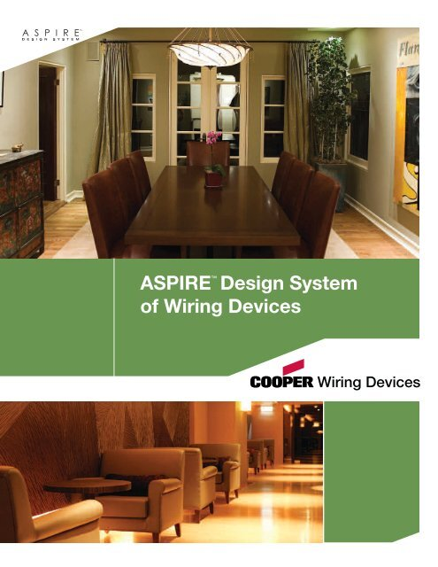 Wiring Devices Cooper Industries, Cooper Wiring Aspire