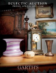 Eclectic - Garth's Auctions, Inc.