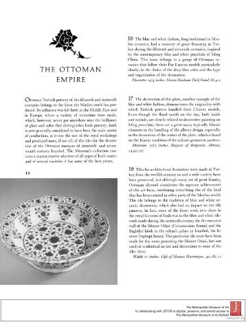 THE OTTOMAN EMPIRE - Metropolitan Museum of Art