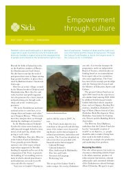 366. Empowerment through culture - Sida