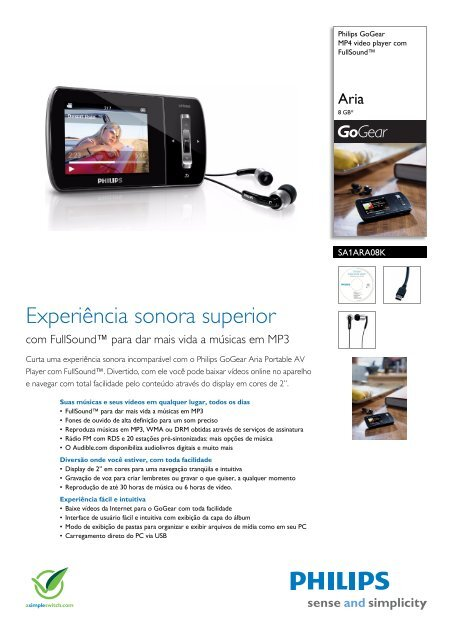 Philips SA1ARA08K/55 MP4 Player Driver Download