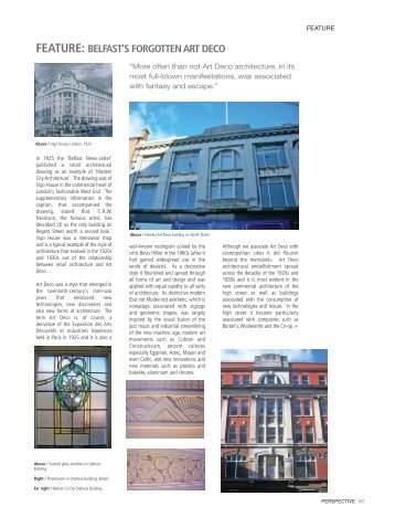 Belfast's Forgotten Art Deco - Ulster Architectural Heritage Society