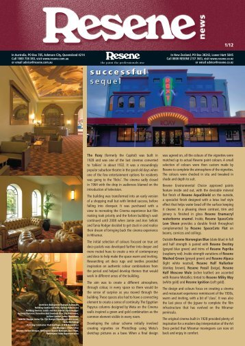 Resene News issue 1 2012