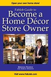 Become A Home Décor Store Owner - Fabjob.com