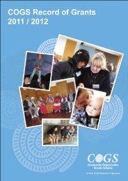 COGS Record of Grants 2011 / 2012 - communitymatters.govt.nz