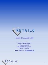 Produktkatalog - Retailo Schweiz