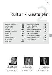 Kultur • Gestalten - Volkshochschule Reckenberg-Ems
