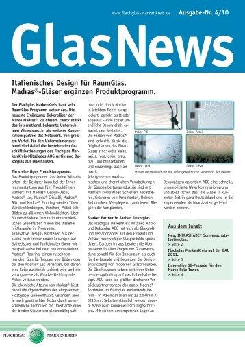 GlasNews 4/10 - Flachglas MarkenKreis