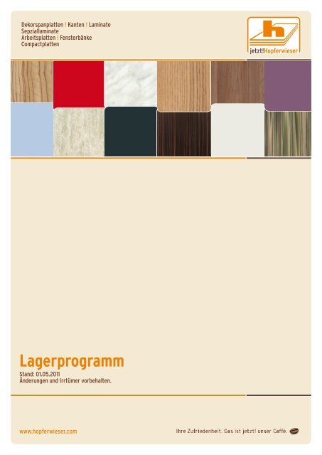 Lagerprogramm - Hopferwieser AG