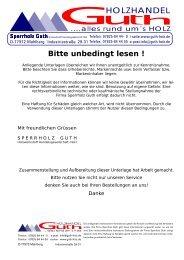 HOLZHANDEL - Sperrholz Guth