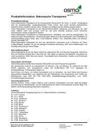 pdf Produktinformation Osmo Dekorwachs transparent