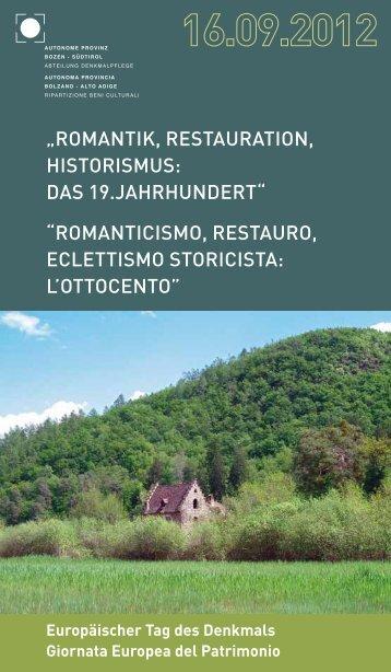 Giornata europea del patrimonio - Rete Civica dell'Alto Adige