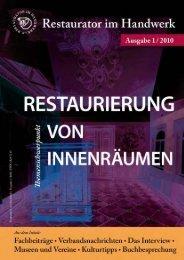 Restaurator im Handwerk – Ausgabe 1/2010 - Kramp & Kramp