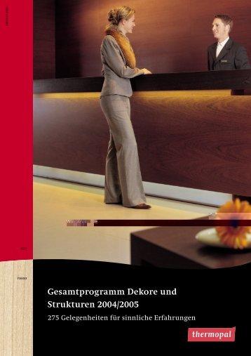 Gesamtprogramm Dekore und Strukturen 2004/2005 - HOFA ...
