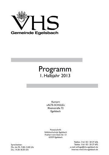 Programm - bei der VHS-Egelsbach