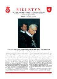 Biuletyn nr 5 01-Sep-2001 - Związek Polskich Kawalerów Maltańskich