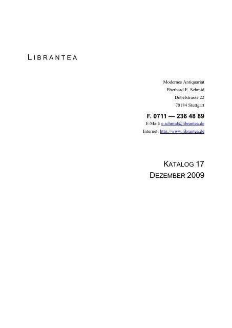 F 0711 236 48 89 Librantea